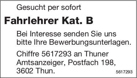 Fahrlehrer Kat. B, gesucht