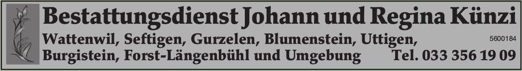 Bestattungsdienst Johann und Regina Künzi