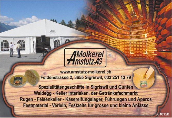 Molkerei Amstutz AG - Spezialitätengeschäfte in Sigriswil und Gunten
