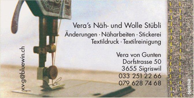 Vera's Näh- und Wolle Stübli - Vera von Gunten, Sigriswil