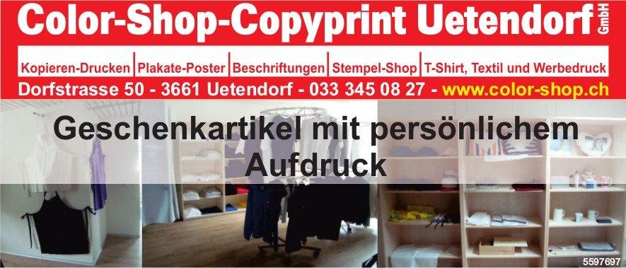 Color-Shop-Copyprint Uetendorf GmbH - Geschenkartikel mit persönlichem Aufdruck