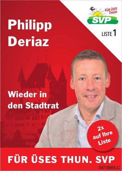 SVP - Philipp Deriaz wieder in den Stadtrat