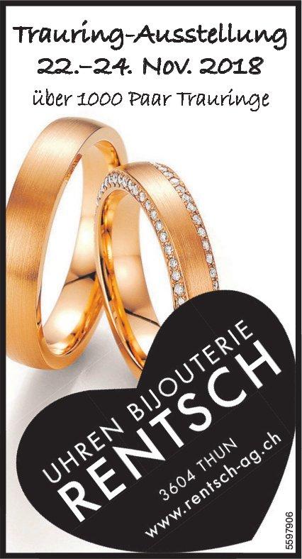 Uhren Bijouterie RENTSCH, THUN - Trauring-Ausstellung, 22. - 24. November