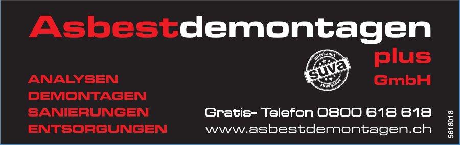 Asbestdemontagen plus GmbH - Analysen, Demontagen, Sanierungen, Entsorgungen