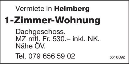 1-Zimmer-Wohnung in Heimberg zu vermieten