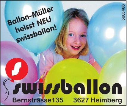 Swissballon, Heimberg - Ballon-Müller heisst NEU swissballon!