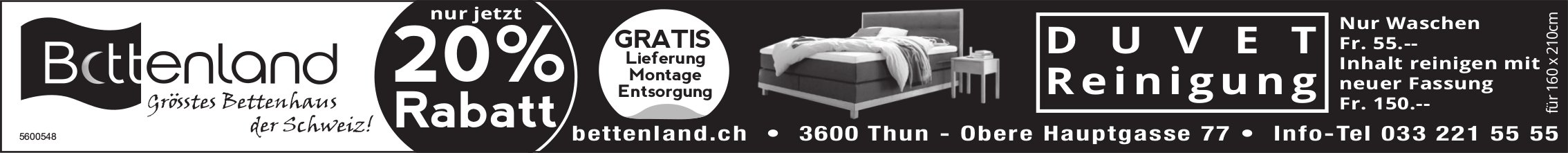 Bettenland - Grösstes Bettenhaus der Schweiz!