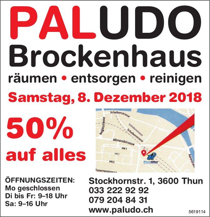 PALUDO Brockenhaus - 50% auf alles am 8. Dezember