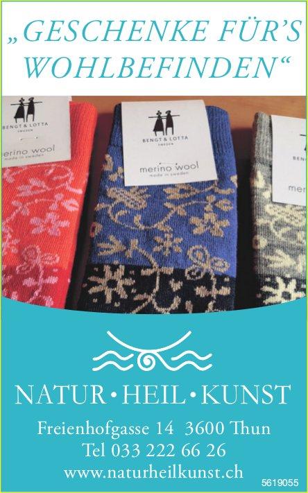 """NATUR - HEIL - KUNST: """"Geschenke für's Wohlbefinden"""""""