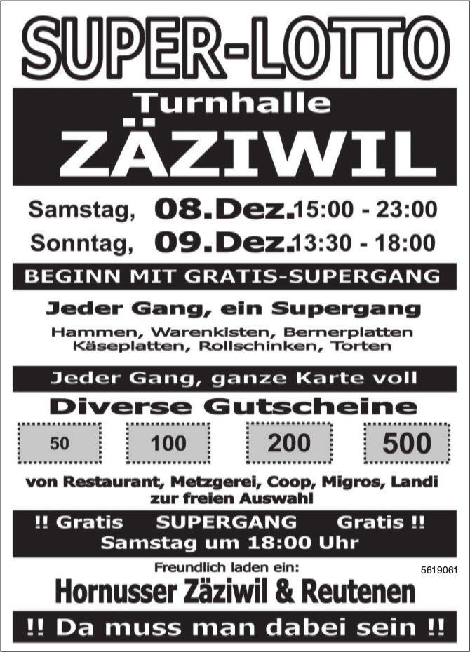 Super-Lotto, Turnhalle Zäziwil, 8.+ 9. Dezember