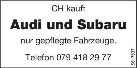 CH kauft Audi und Subaru
