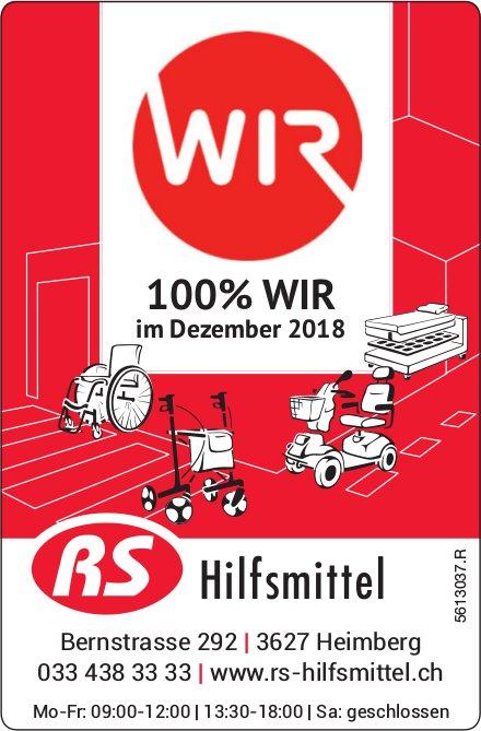 RS Hilfsmittel - 100% WIR im Dezember 2018