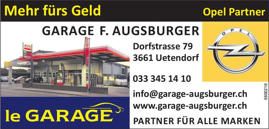 GARAGE F. AUGSBURGER, Uetendorf - Mehr fürs Geld