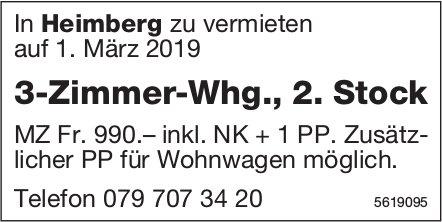 3-Zimmer-Whg., 2. Stock in Heimberg zu vermieten