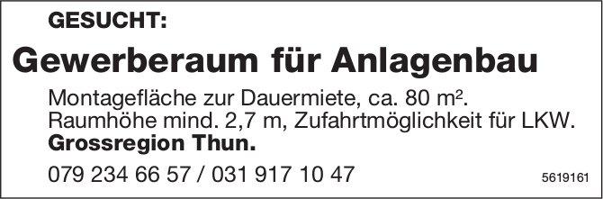 Gewerberaum für Anlagenbau Grossregion Thun gesucht