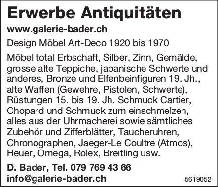 Erwerbe Antiquitäten - Galerie D. Bader