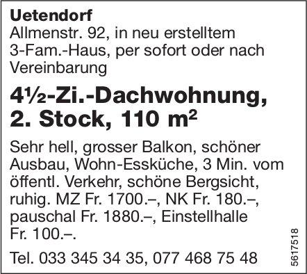 4½-Zi.-Dachwohnung, 2. Stock, 110 m2 in Uetendorf zu vermieten