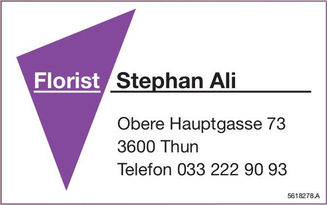 Florist Stephan Ali, Thun