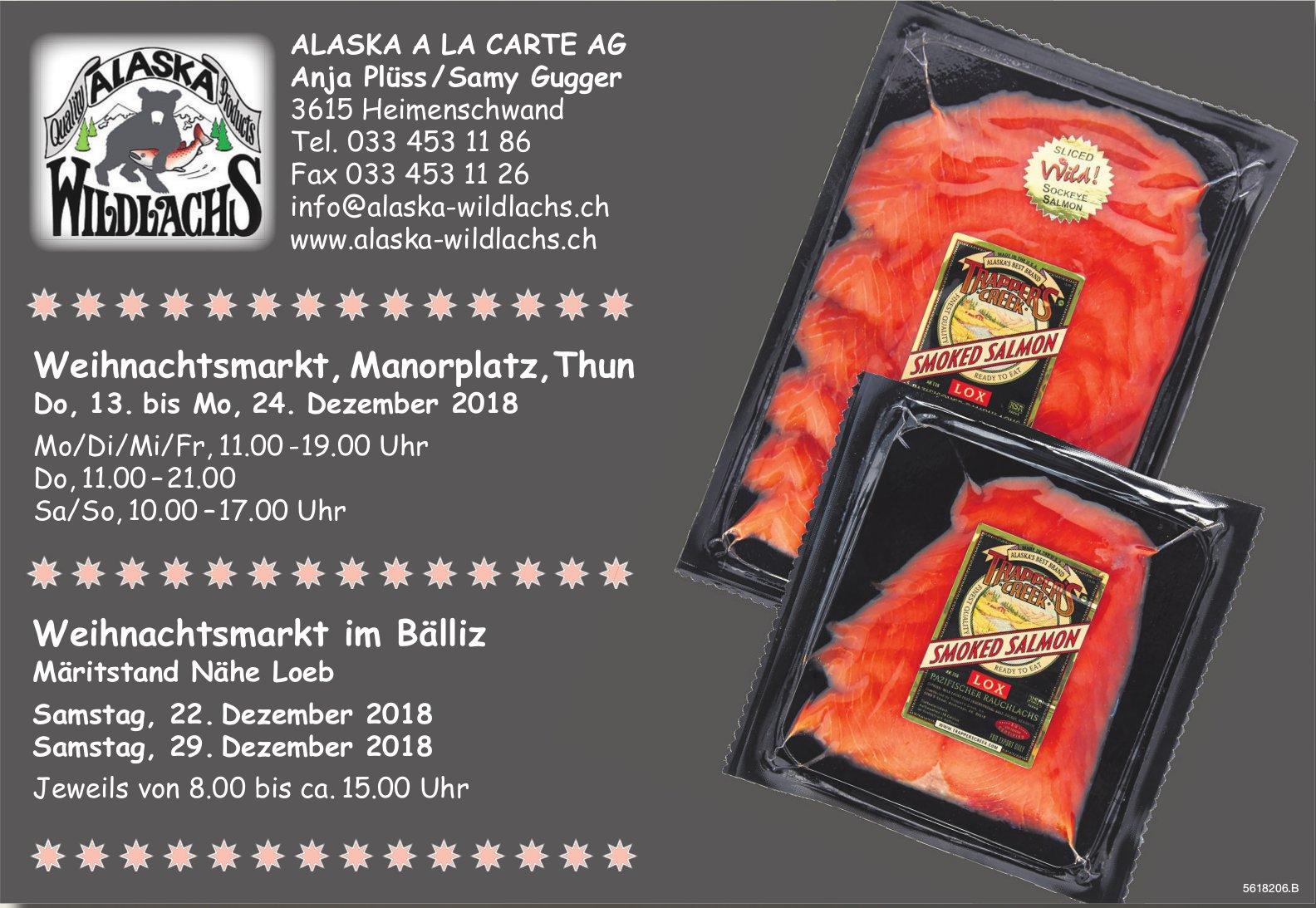 ALASKA A LA CARTE AG - Weihnachtsmarkt, Manorplatz,Thun + Weihnachtsmarkt im Bälliz