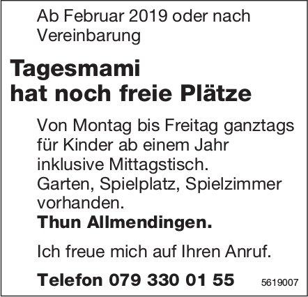 Tagesmami hat noch freie Plätze, Thun Allmendingen