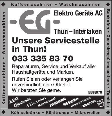 Elektro Geräte AG, Thun & Interlaken