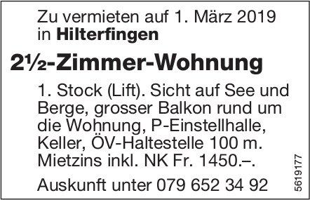 2½-Zimmer-Wohnung in Hilterfingen zu vermieten