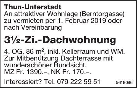 3½-Zi.-Dachwohnung in Thun-Unterstadt zu vermieten