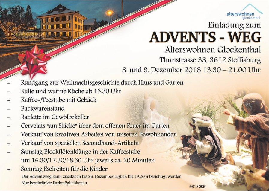 Alterswohnen Glockenthal Steffisburg - Advents-Weg, 8. und 9. Dezember
