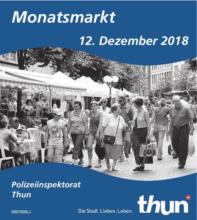 Polizeiinspektorat Thun - Monatsmarkt am 12. Dezember