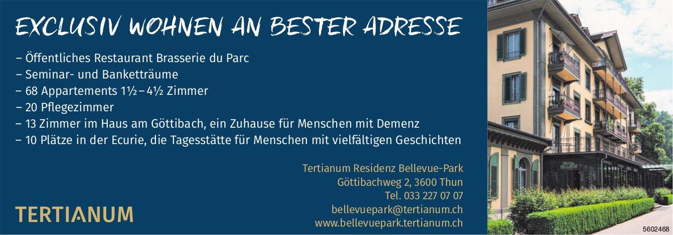Tertianum Residenz Bellevue-Park - EXCLUSIV WOHNEN AN BESTER ADRESSE