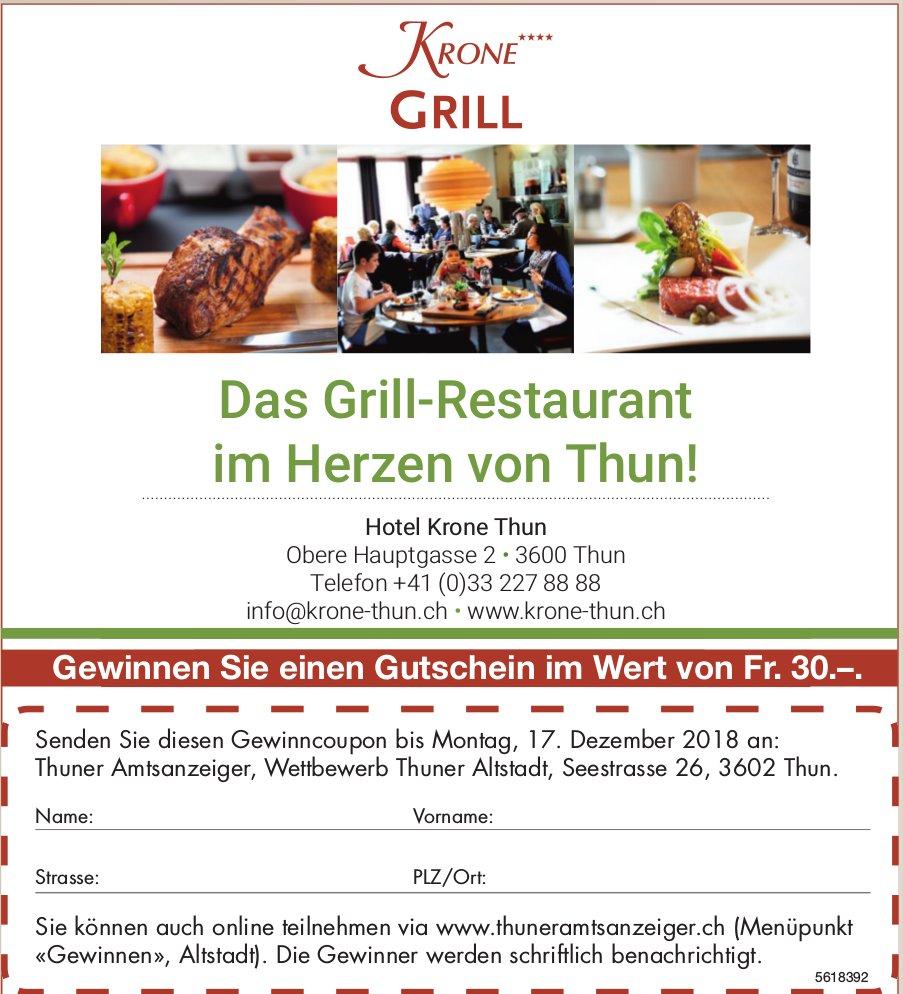 Hotel Krone - Das Grill-Restaurant im Herzen von Thun!