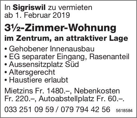 3½-Zimmer-Wohnung im Zentrum, an attraktiver Lage in Sigriswil zu vermieten