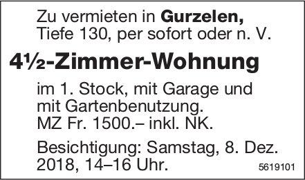 4½-Zimmer-Wohnung in Gurzelen zu vermieten / Besichtigung am 8. Dez.