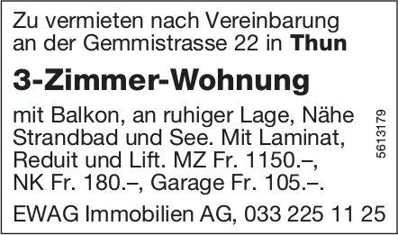 3-Zimmer-Wohnung in Thun zu vermieten