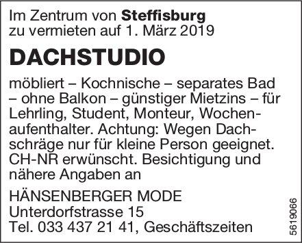 DACHSTUDIO im Zentrum von Steffisburg zu vermieten