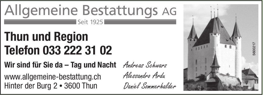 Allgemeine Bestattungs AG - Thun und Region