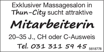 Mitarbeiterin, Massagesalon, Thun-City, gesucht