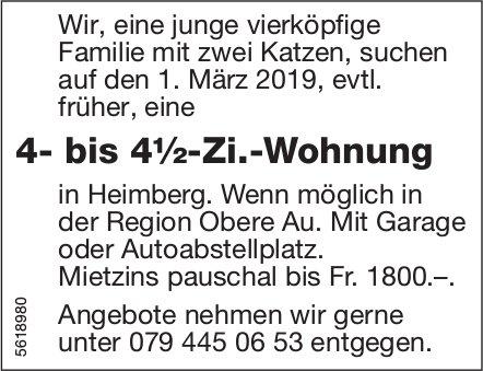 4- bis 4½-Zi.-Wohnung in Heimberg zu mieten gesucht