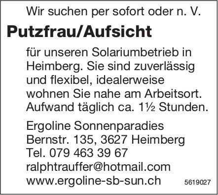Putzfrau/Aufsicht, Ergoline Sonnenparadies, Heimberg, gesucht