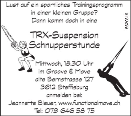TRX-Suspension Schnupperstunde, Groove & Move, Steffisburg