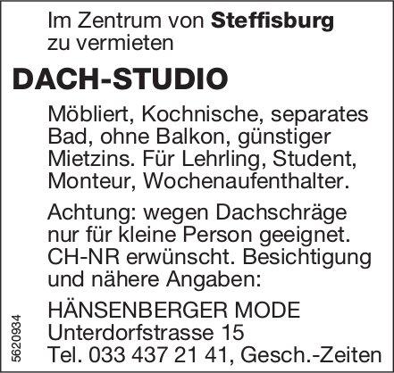 DACH-STUDIO im Zentrum von Steffisburg zu vermieten