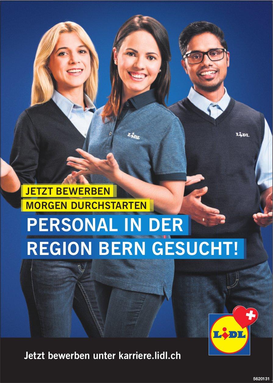LIDL - PERSONAL IN DER REGION BERN GESUCHT!