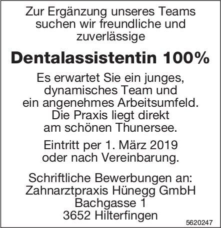 Dentalassistentin 100%, Zahnarztpraxis Hünegg GmbH, Hilterfingen, gesucht