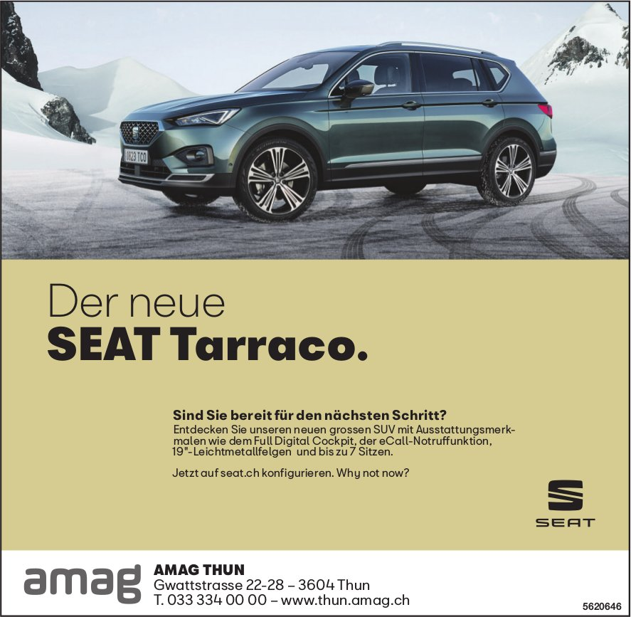 AMAG THUN - Der neue SEAT Tarraco.