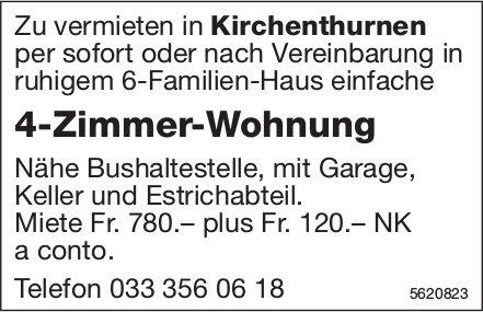 4-Zimmer-Wohnung in Kirchenthurnen zu vermieten