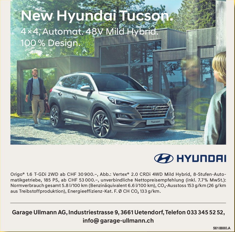 Garage Ullmann AG - New Hyundai Tucson.