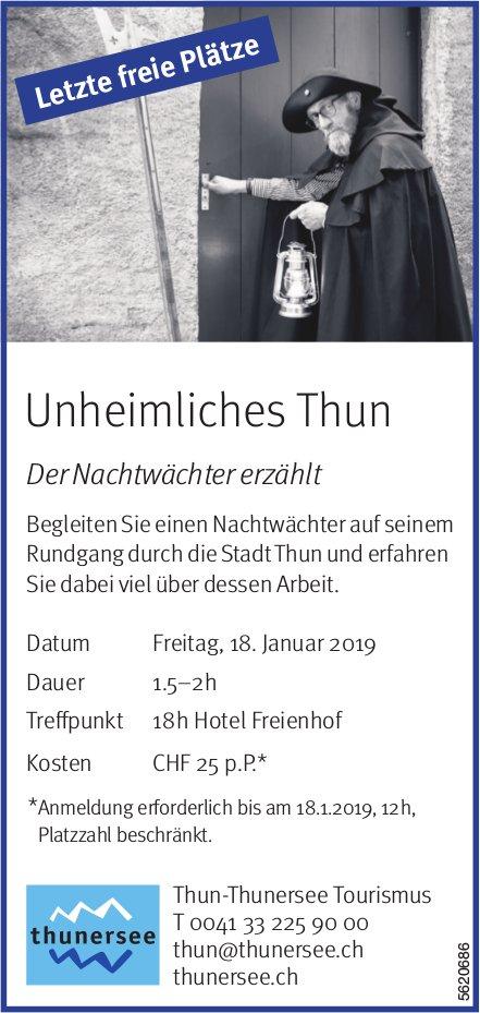 Thun-Thunersee Tourismus - Unheimliches Thun: Der Nachtwächter erzählt am 18. Januar