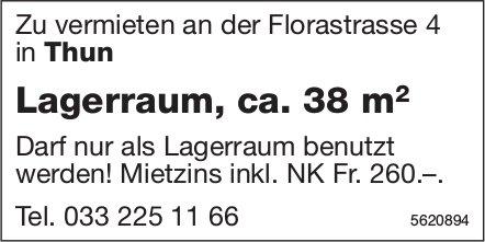Lagerraum, ca. 38 m2 in Thun zu vermieten