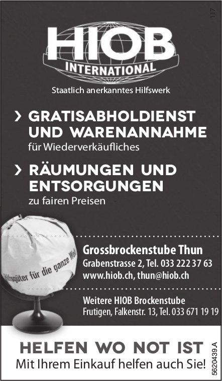 HIOB INTERNATIONAL Brockenstube Thun & Frutigen