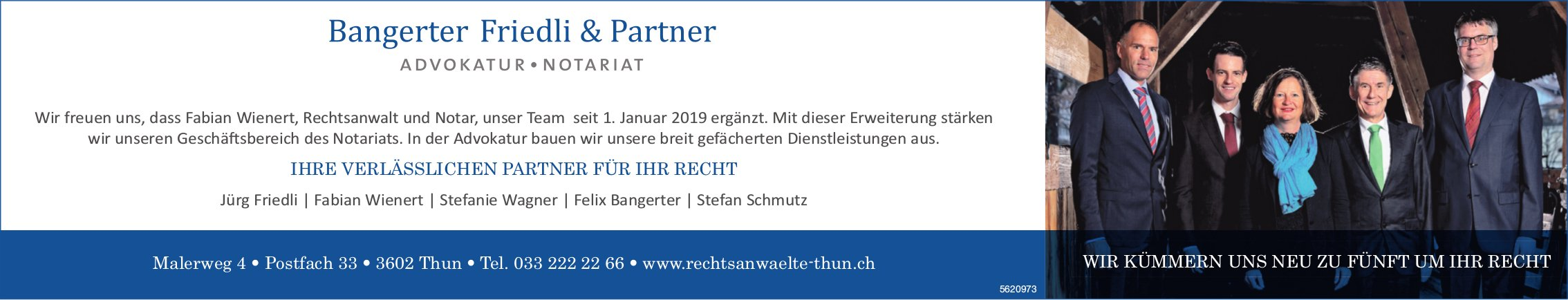 ADVOKATUR NOTARIAT, Bangerter Friedli & Partner, Thun